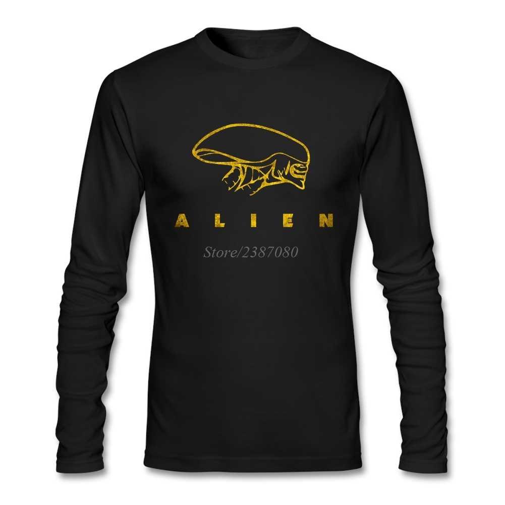 Alien giao ước Alien Xenomorph T Shirt Tuỳ Chỉnh Dài Tay Áo Người Đàn Ông T-Shirts Summer Đi Đường Bông T Shirts Fitness Người Đàn Ông