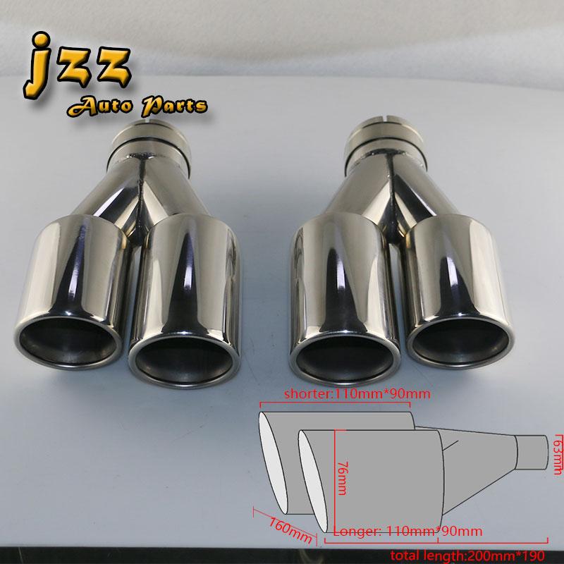 Jzz 1set Akrapovic Car Exhaust Tip Muffler Pipe For Silencer Race Escape Tube Chrome Silver: Race Car Exhaust Tips At Woreks.co