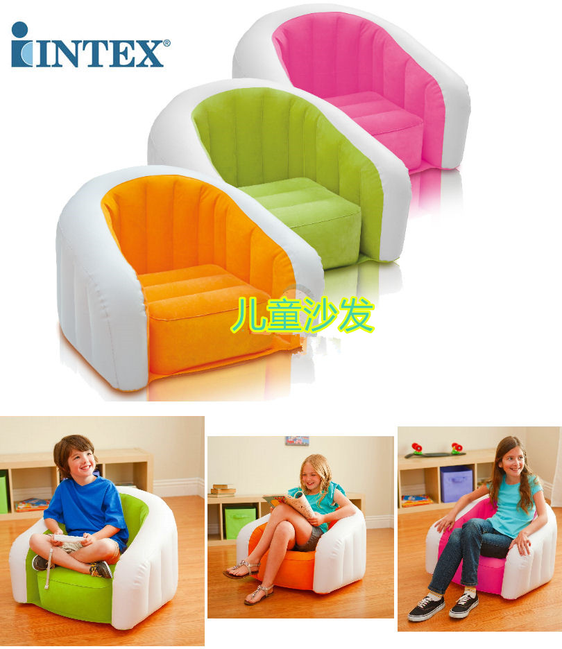 Intex Air Chair Ikea Reclining Kids Children Colorful Inflatable Seat Lounge Sofa 3 Colors Outdoor Indoor Waterproof Child In Living Room Sofas From Furniture On