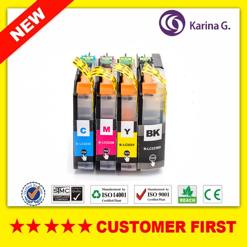 4X Compatible printer cartridges For Brother LC223  (LC221) For Brother MFC-J4420DW J4620DW J4625DW J5320DW J5620DW EU Market