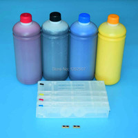 Mực Pigment cho hp 970 971 bơm lại hộp mực cho hp970 mực trống hộp mực với chip arc và 1000 ml * 4 màu pigment mực