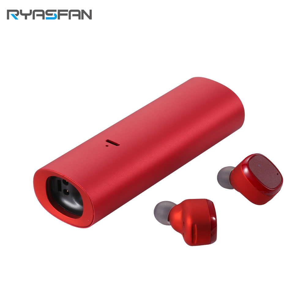 RYASFAN Bluetooth Wireless Earbuds In Ear Sport Headset Noise Cancelling Isolating Magnet Charging for Xiaomi Smartphone iPhone
