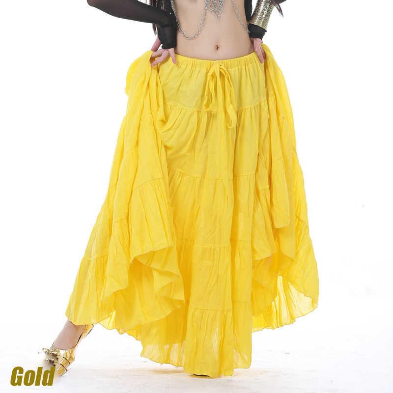 bcb39c062d ... 18 Yard Performance Gypsy Dance Clothes Full Circle Elastic Waistband Cotton  Skirt Women Belly Dance Tribal ...