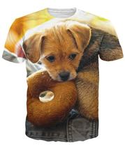 39a3df56440e Donut Dog T Shirt 3d animal cute dog all over print t shirt women summer t  shirt men tops tees casual t shirt fashion clothing-in T-Shirts from Women s  ...