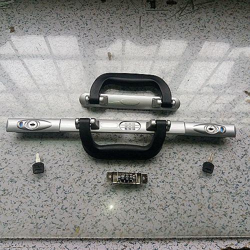 Aluminum frame trolley lock handle suitcase universal wheel custom lock luggage bag password lock repair parts