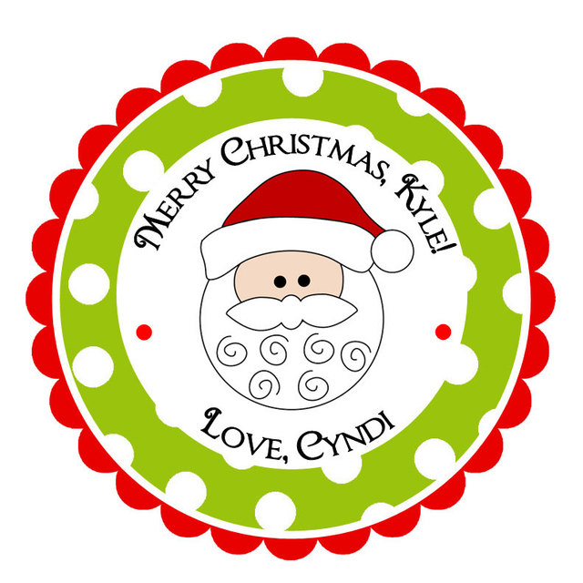 Christmas Gift Tags For Kids.Us 11 62 40 Off Personalized Christmas Santa Claus Stickers Christmas Address Labels Holiday Children Kids Gift Tags Party Favors In