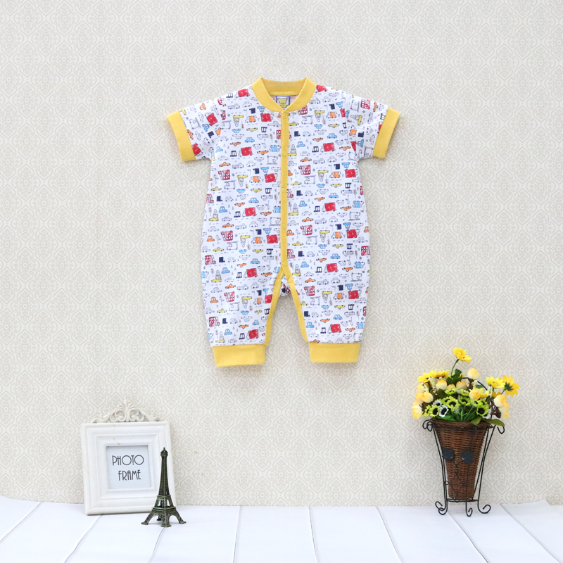 Little Q 100 Cotton One Piece Bodysuits for boys Short Sleeve Baby Clothes Newborn Jumpsuits Toddler Clothing in Bodysuits from Mother Kids