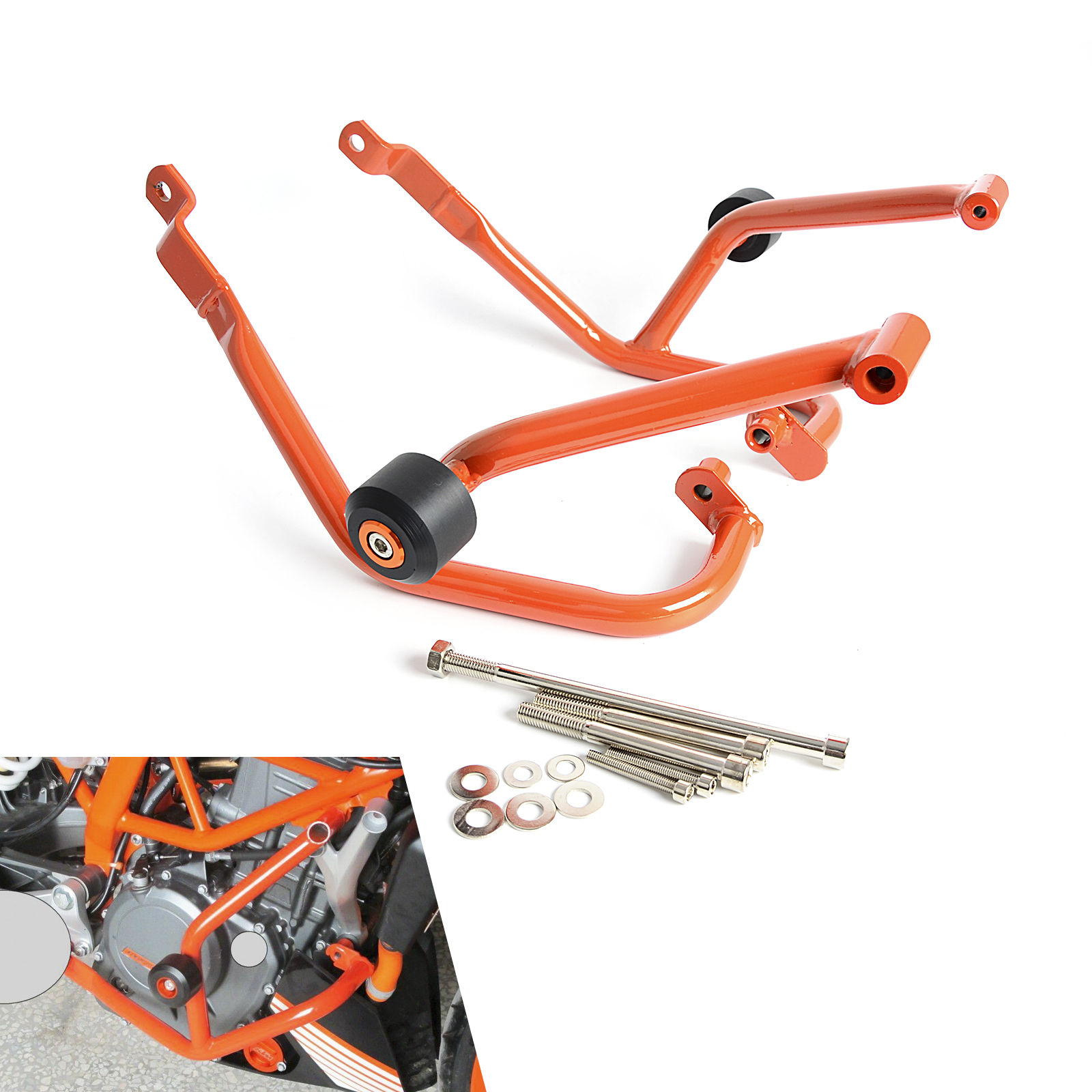 Motorcycle Engine Guard Crash Bars Frame Protector Bumper For KTM 125 200 Duke 2011 2012 2013 2014 2015 NEW набор кухонных принадлежностей super kristal sk 3688