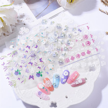 1 Sheet Butterfly Flower 3D Nail Art Stickers Self-adhesive Tips Decorations