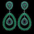 Novo design famosa marca de leite de pedra brincos de jóias, de alta qualidade luxo moda gun preto chapada brinco verde para as mulheres