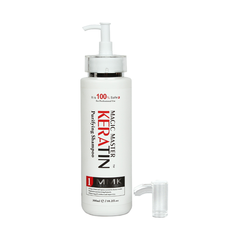2pcs&Free Gift Comb Without Formalin 1000ml Magic Master Brazilian Keratin Hair Treatment +300ml Purifying Shampoo Hair Care Set