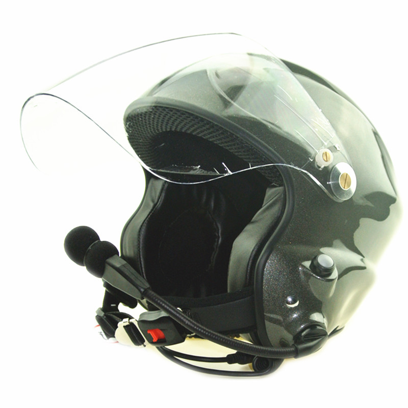 Cancelación de ruido de paramotor casco con la auriculares dos PTT control CE EN966 Envío Estándar gratis