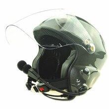 Шум шумоподавления paramotor шлем с полной гарнитуры два боковых Управление PTT CE EN966 стандарт бесплатная доставка