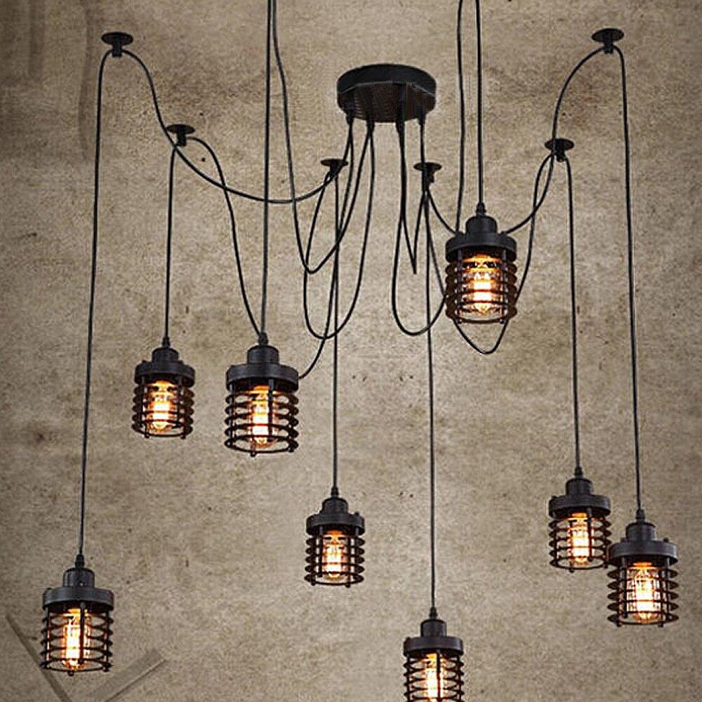 Lumières de pendentif LED multiples moderne Vintage chambre E27 titulaire lampe industrielle livraison gratuite LED lampe pendante lampe AC220V