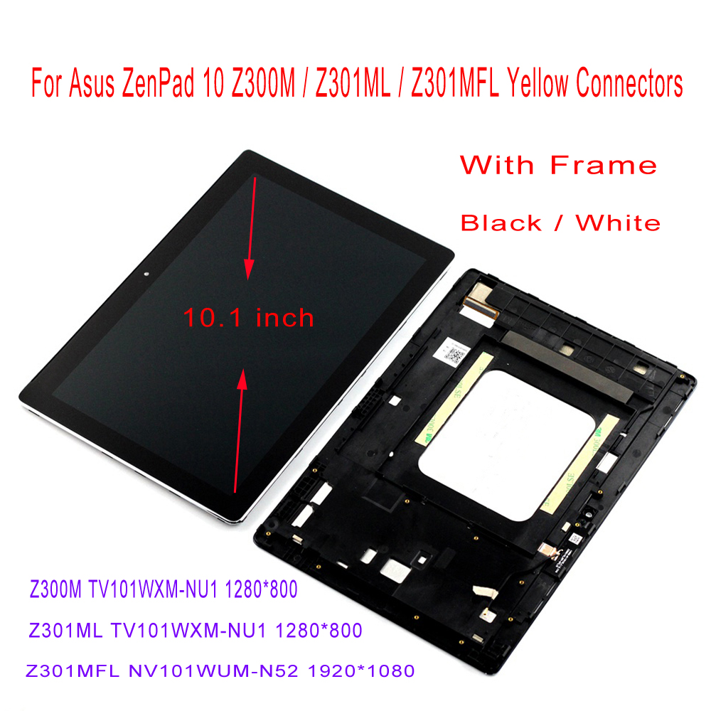 AAA Z300M P00C Z300C Z301MFL P00L LCD for Asus Zenpad 10 LCD Display Touch Screen Assembly 10.1 with Frame Digitizer Free Tool