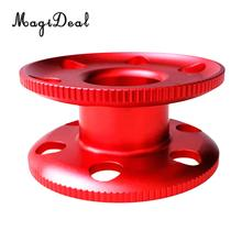 MagiDeal Aluminum Alloy Scuba Diving Compact Finger Spool Reel Guide Line Spool Red