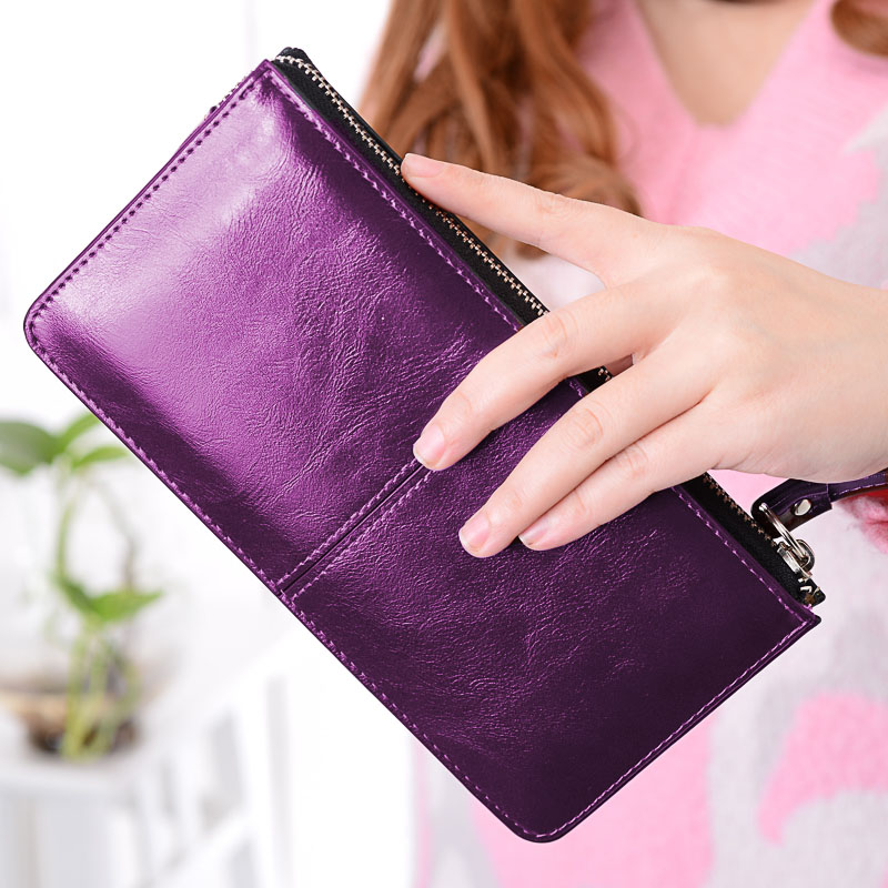 MONNET CAUTHY Women's Wallet Concise Classic Leisure Fashion Candy Color Red Yellow Purple Sky Blue Lady Organizer Long Wallets