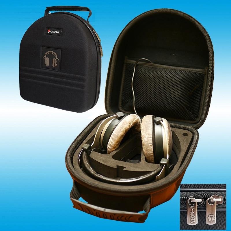 TDD V-MOTA Fone De Ouvido Carry case boxs Para Beyerdynamic DT770 pro T1 T5P T7P DT1900 T90 COSTUME UM pro fone de ouvido (fone de ouvido mala)