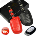 New! 100% Genuine Leather Car Key Case/Key Holder For 2013 Hyundai IX35/Verna/Mistra/IX25  Key Accessories