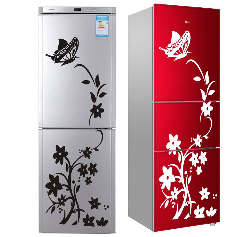 2020 High Quality Wall Sticker Creative Refrigerator Sticker Butterfly Pattern Wall Stickers Home Decor Wallpaper Free Shipping(China)