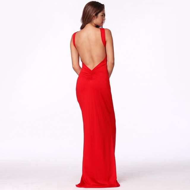 Bare Back Red Dresses