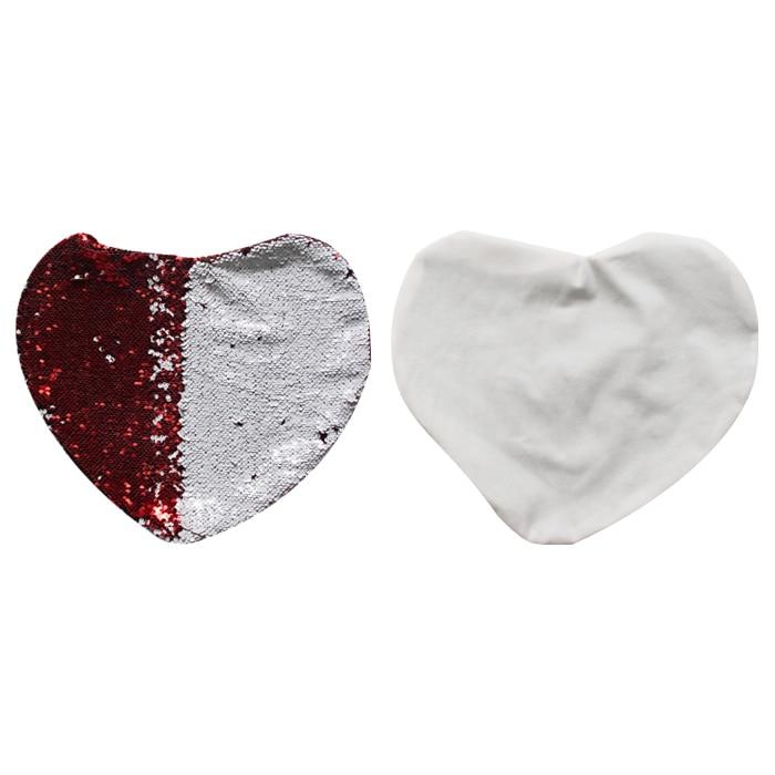 Lantejoulas item Mágico Fronha Coração Em Branco