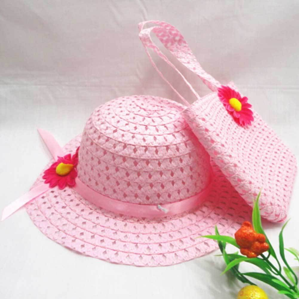 Summer Baby Hats Straw Kids Fedora Hats Boys Girls Breathable Cap +  Blue/Pink/orange Beach Storage Bag In Storage Bags From Home U0026 Garden On  Aliexpress.com ...