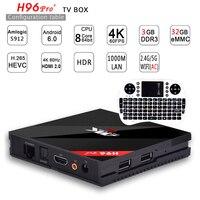 [Подлинный] h96 Pro Plus 3 г 32 г Умные телевизоры коробка Android 7.1 Amlogic S912 Octa Core Wi-Fi 4 К H.265 h96 медиаплеера h96pro телеприставке