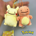 new Keychain DOLL TOY ;Q version Pokemon Plush Toy Bulbasaur Charmander Squirtle Soft  Plush Stuffed Animal; BAG Pendant TOY