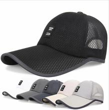 2018 new Summer men hat breathable adjustable sun Boina Mesh Caps Baseball high quality