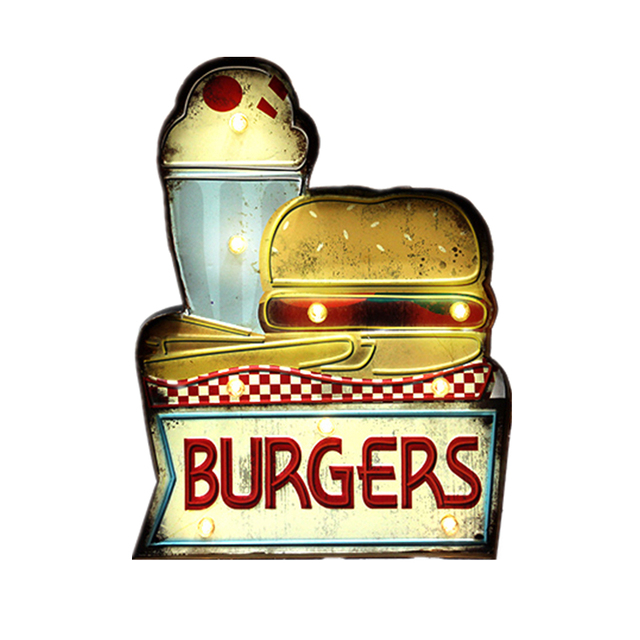 Küchenstudios Hamburg burger hamburg led neonlicht schild cafe fast food kuchen schinken