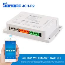 Sonoff 4CH Wireless Multi-channel WIFI Switch Independent Remote Control For Smart House Home Automation Module Controller 220V