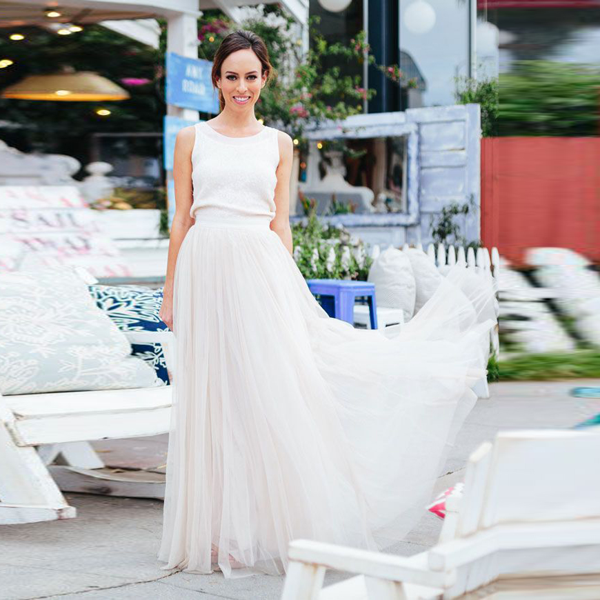 Aliexpress.com : Buy Simple And Elegant White Long Skirts Satin ...