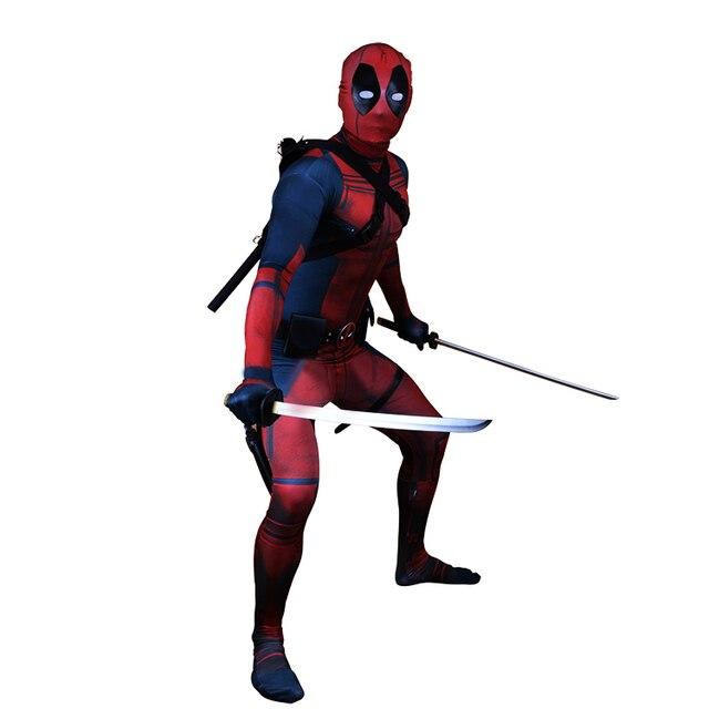 Deadpool 2 Wade Wilson Cosplay traje 2018 nuevo Deadpool traje 3D impreso  rojo negro Superhero Zentai 499fc9a0ce04