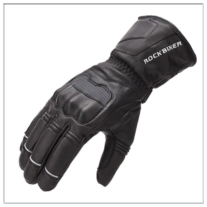 ROCK BOKER moto Gants de moto pour moto cycle hiver chaud imperméable Gants de cyclisme Guantes moto invierno Gants en cuir M-XXL