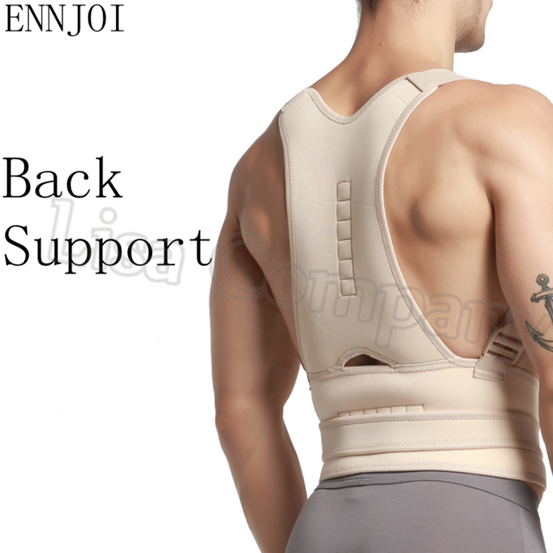Diving Material Magnetic Therapy Posture Corrector Brace Straightener Shoulder Back Spine Support Belt for Men Women