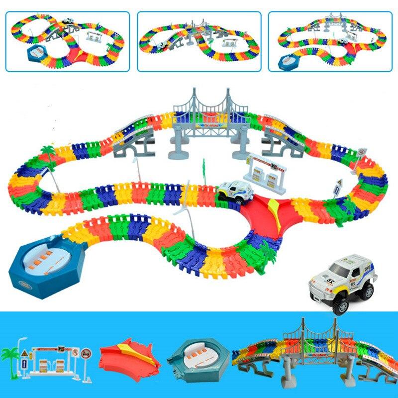 5,5 см DIY универсальные аксессуары для волшебной светящейся дорожки обучающая железнодорожная Автомобильная игрушка гоночные дорожки автом...