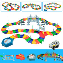 5.5cm DIY Universal Accessories for Magical Glowing Track Educational Car Toy Racing Tracks Kids For Toys Christmas Gifts