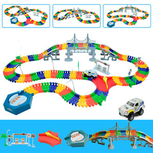 5.5cm DIY Universal Accessories for Magical Glowing Track Educational Car Toy Racing Tracks Car Kids For Toys Christmas Gifts