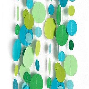 Image 2 - 4m גליטר עגול טבעת נייר גרלנד צמח מחרוזת קיר תליית נייר באנר תינוק מקלחת חתונה מסיבת יום הולדת DIY קישוט