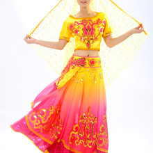 2017 Real Disfraces Ancient Chinese Costume Xinjiang Turpan Minority Dance Costumes Chines