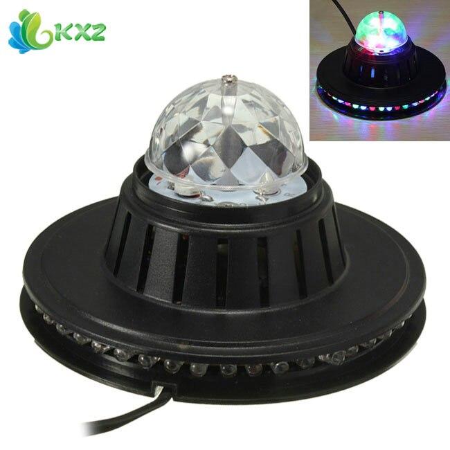 Auto Rotating RGB LED Stage Light Voice Control Holiday Party Disco Club Bar KTV DJ LED Crystal Magic Ball Lighting Effect Lamp чайник bohmann 9959 bh