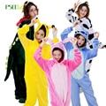Conjuntos de pijamas de Invierno de Las Mujeres Pijamas Animal Anime Totoro puntada unicornio Pijama de Franela Panda Cosplay pijamas onesies para adultos