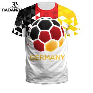 8948dc5b23c NADANBAO 3D Printing O-neck Short Sleeve Sport Soccer Jerseys Fitness Shirt