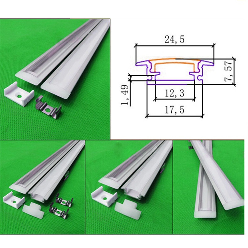 20-80m ,10-40pcs of 2meter/pc aluminum profile for led strip,2m embedded led bar with  cover ,led profile channel for 12mm pcb 10 40pcs lot 80 inch 2m 90 degree corner aluminum profile for led hard strip milky transparent cover for 12mm pcb led bar light