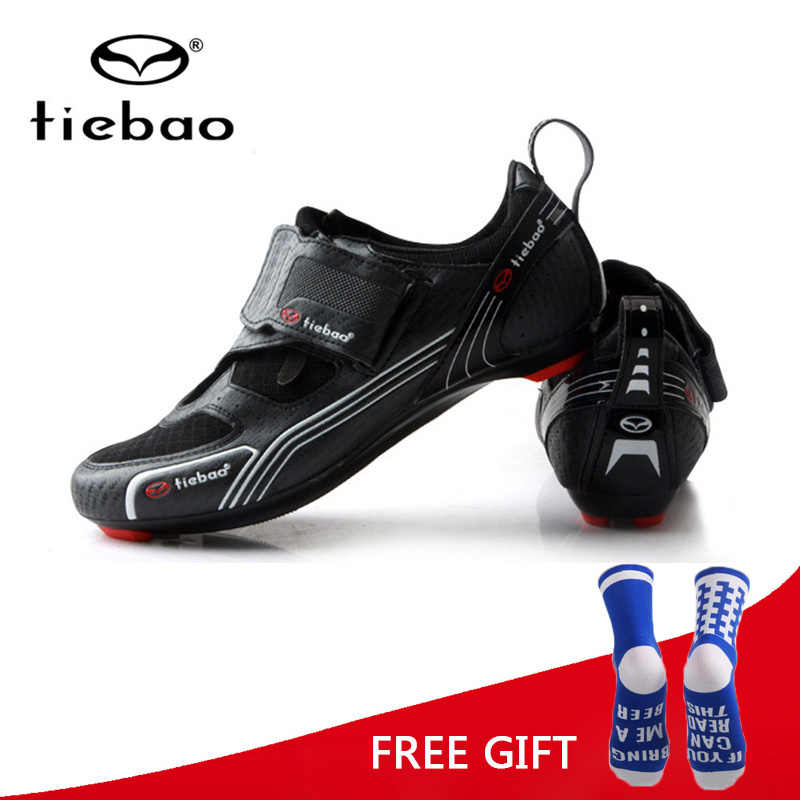 Tiebao Triathlon Professional Cycling Shoes Road Bike Bicycle Self Lock Shoes Men Breathable Outdoor Sports Sneakers Zapatillas