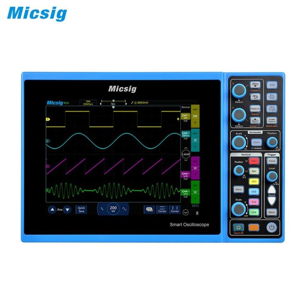 Micsig Tablet Oscilloscopio STO1104C 100MHz 4CH 1GSa di Immagazzinaggio Touchscreen con batteria