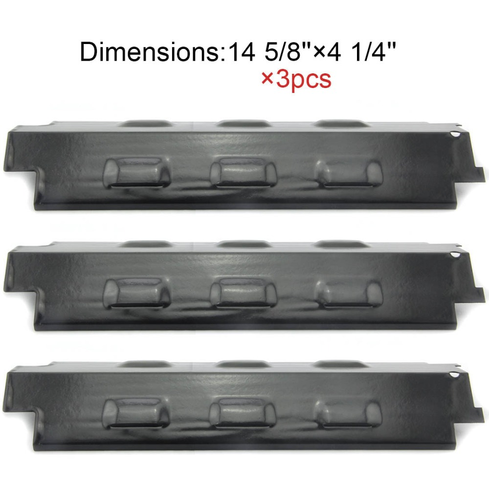BBQ Parts 98531(3-pack) Porcelain Steel Heat Shield Replacement Heat Plate for Charbroil and Kenmore Gas Grill Models