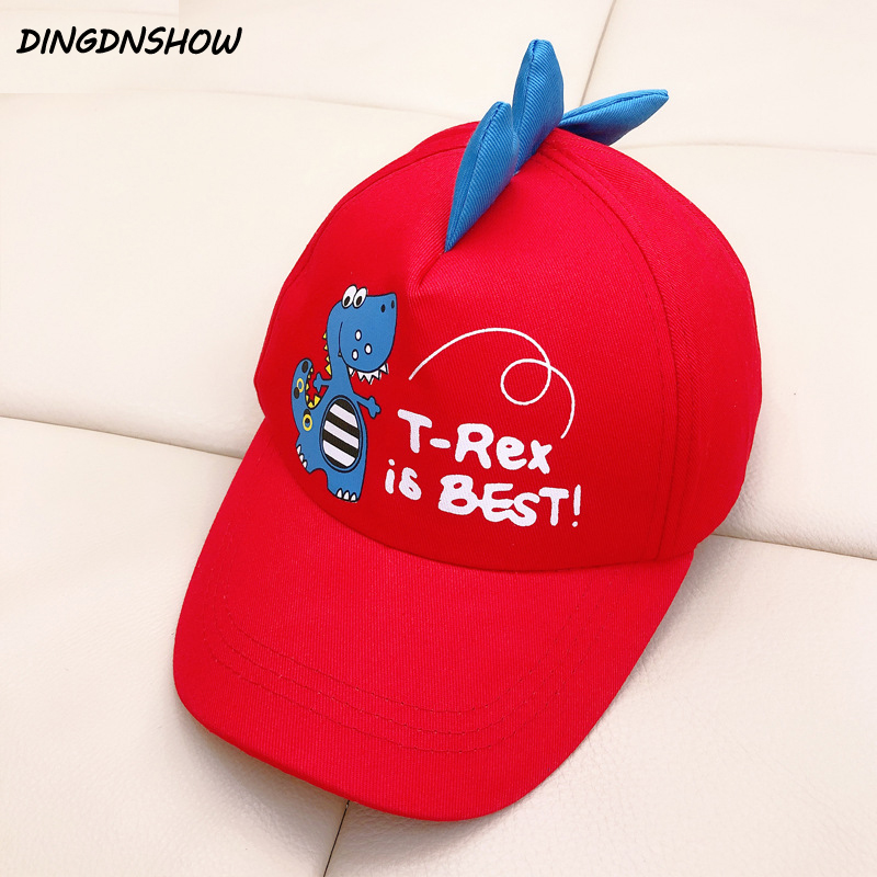 [DINGDNSHOW] 2019 Brand Child   Baseball     Cap   Print Cartoon Hip Hop   Cap   Cotton Snapbacks Hat Summer Kids Boys and Girls