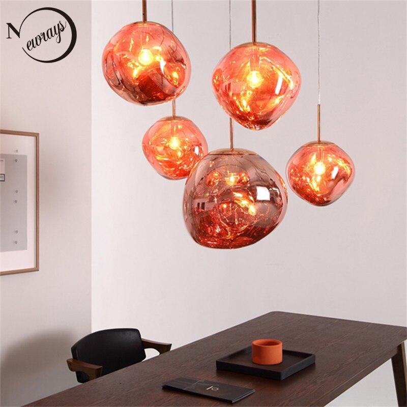 Modern novelty art deco glass pendant light LED E27 with 3 colors for living room bedroom
